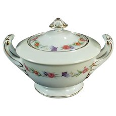 Vintage Occupied Japan Sango China Dinnerware - Covered Sugar Bowl - O.J.