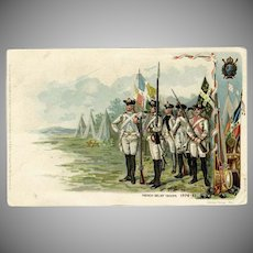 Vintage Colonial Heroes Series Postcard - French Relief Troops 1908