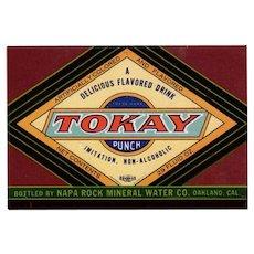 Vintage Paper Soda Bottle Label  - Colorful Tokay Punch
