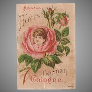 Vintage Advertising Trade Card - Hoyt Perfume with Pretty Image
