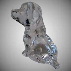 Vintage Glass Dog - 1979 Goebel Puppy Figure Paperweight