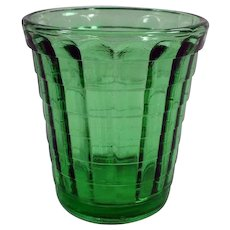 Vintage Green Akro Agate One Ounce Glass - Doll Dish or Shot Glass
