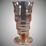 Vintage Paden City Pink Depression Malt Glass -  Three (3) Available