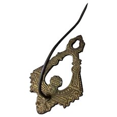 Vintage Cast Iron Wall Mount Bill Hook - Very Nice Deco Design