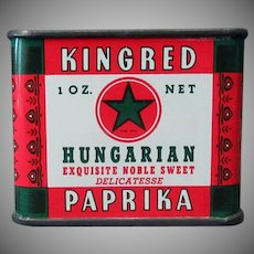 Vintage Spice Tin – Colorful Kingred Hungarian Paprika - Schoenfeld