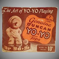Vintage Instruction Booklet  - The Art of Yo-Yo Playing - 1950