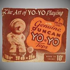 Vintage Instruction Booklet  - The Art of Yo-Yo Playing - 1950