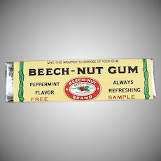 Vintage Beech-Nut Peppermint Chewing Gum Sample Stick