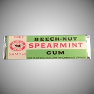 Vintage Beech-Nut Spearmint Sample Chewing Gum Stick