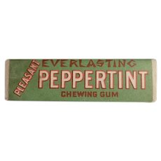 Vintage Chewing Gum Stick - Everlasting Peppertint Peppermint