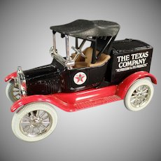 1988 Texaco #5 Ford Runabout Bank - Vintage Ertl Die Cast