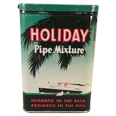 Vintage Tobacco Pocket Tin - Holiday Pipe Mixture Tin