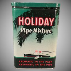 Vintage Tobacco Pocket Tin - Holiday Pipe Mixture Tin