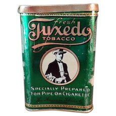 Vintage Tobacco Pocket Tin - Tuxedo Concave Pocket Tin