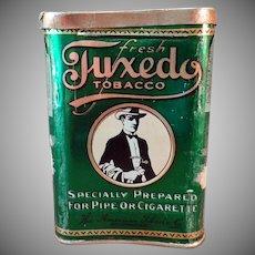 Vintage Tobacco Pocket Tin - Tuxedo Concave Pocket Tin