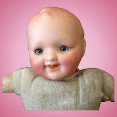 Vintage German Bisque Baby Doll – German Theodor Recknagel – Sweet Face