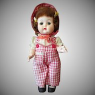 "Vintage Nancy Ann Debbie 10"" Walker Doll – Adorable Gingham Outfit"
