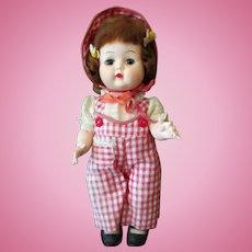 "Vintage Nancy Ann Debbie 10"" Walker Doll – Adorable Gingham Outfit"