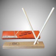 Vintage Colorado Beaver Teeth Knife Sharpener with Original Box