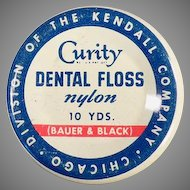 Vintage Curity Dental Floss Tin by Bauer & Black