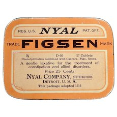 Vintage Laxative Tin – Nyal Figsen Medicine Tin