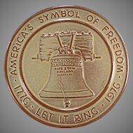 Vintage Frankoma Pottery Trivet Hot Plate - Bicentennial Liberty Bell