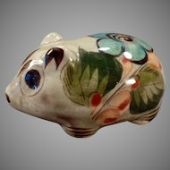 Old Mexican Pottery – Richly Colored Miniature Rodent