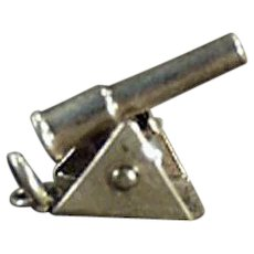 Vintage Sterling Silver Cannon Charm - Moveable