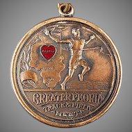 Vintage Josten Sports Medal - Peoria, Illinois Track & Field Award