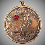 Vintage Josten Sports Medal - Peoria, Illinois Track & Field Award