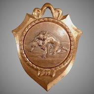 Vintage Sports Medal - 4th Place Wrestling Award