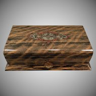 Vintage Wood Grain Celluloid Dresser Box – Masculine Vanity Case