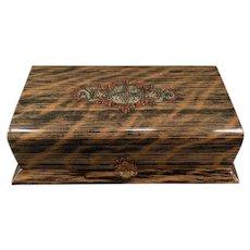 Vintage Wood Grain Celluloid Dresser Box – Masculine Vanity Case
