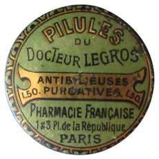 Vintage French Medical Tin – Pilules du Docteur Legros