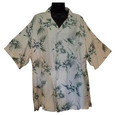 Vintage Hawaiian Style Knightbridge Casual Shirt – Orchid Flower Design - Size Large