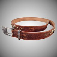 Vintage Roy Rogers Leather Hickok Belt with Buckle