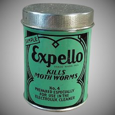 Vintage Sample Tin -  Expello Electrolux Vacuum Cleaner - Nice Graphics