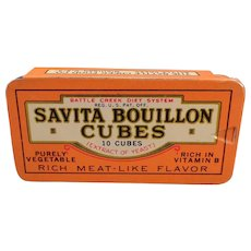 Vintage Savita Bouillion Cubes Tin from the Battle Creek Food Co.