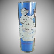 Vintage Richardson Freeze Advertising Soda Glass - Cool Off Polar Bear