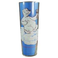 Vintage Richardson Freeze Advertising Soda Glass - Cool Off Polar Bear