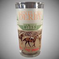 Old Kentucky Derby Advertising Glass - Churchill Downs 1985