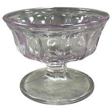 Vintage Soda Fountain Sherbet Dish - Paneled Sun Purple