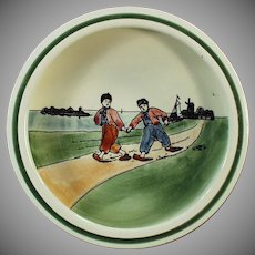 Vintage Zell Baby Plate with Dutch Boys - 1920's Germany