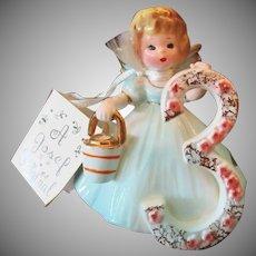 Vintage Japan Josef Original – #3 Birthday Angel - Age Three with Hang Tag