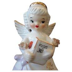 Vintage September Birthday Angel with 3R's School Book