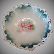 Vintage RS Prussia Footed Bowl – Pretty Reflecting Poppy Daisy Design - Marked