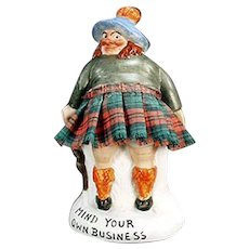 Vintage Schafer and Vater Porcelain Whimsy - Mind Your Own Business Scotsman
