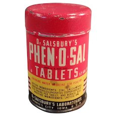 Vintage Sample Tin - Dr. Salsbury's Phen-O-Sal Tablets for Poultry