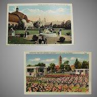 Vintage Southern California Exposition Souvenir Postcards
