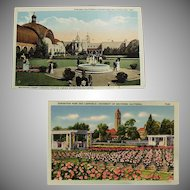 Vintage Southern California Exposition Souvenir Postcards